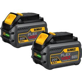 20V/60V 6.0Ah Flexvolt Max Battery Pack, 2 pk.