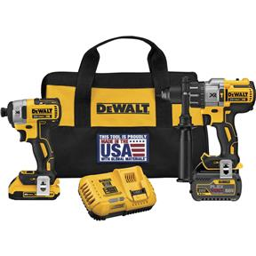"20V MAX Flexvolt 1/2"" Hammerdrill and 1/4"" Impact Kit"