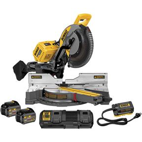 120V Max Sliding Miter Saw Kit with Batteries/Charger