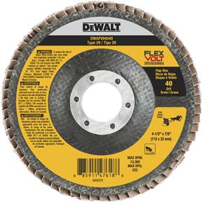 "4-1/2"" x 7/8"" Flexvolt T29 40g Flap Disc"