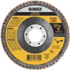"""Ceramic 4-1/2"""" x 7/8"""" Flexvolt Flap Disc, 80 Grit"""