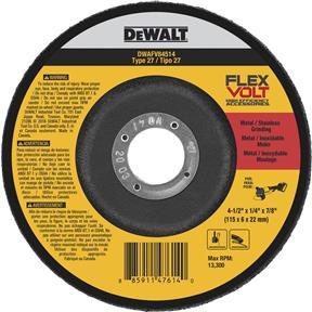 "4-1/2"" x 1/4"" x 7/8"" Flexvolt T27 Cutting/Grinding Wheel"
