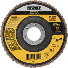 "4-1/2"" x 7/8"" Flexvolt T29 60g Flap Disc"