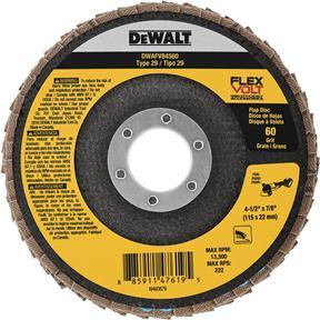 """4-1/2"""" x 7/8"""" Flexvolt T29 60g Flap Disc"""