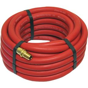 "25' x 3/8"" Red Goodyear Rubber Air Hose"