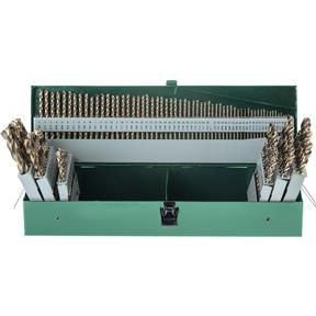 HSS 135 Deg. 115 pc. Shank Twist Drill Set with Cobalt Finish