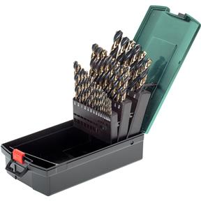 29-pc. 135 Deg. Split Point HSS Twist Drill Set with Black & Gold Oxide Finish