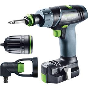 TXS 10.8V Li-Ion Cordless Drill Set w/ Right Angle Chuck