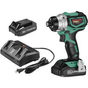 20V Impact Driver Kit with 2 Li-Ion Batteries & Charger