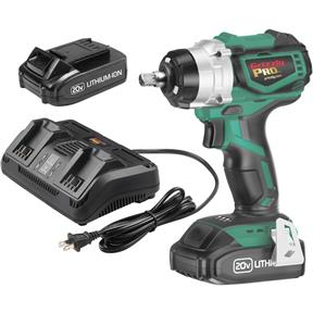 20V Impact Wrench Kit with 2 Li-Ion Batteries & Charger