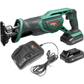 20V Reciprocating Saw Kit with 2 Li-Ion Batteries & Charger