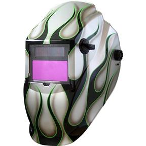 Silver Flame Auto-Darkening Welding Helmet