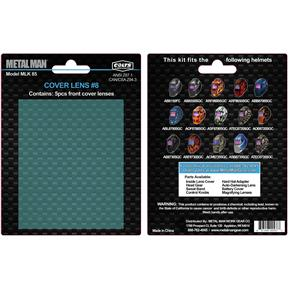Replacement Front Cover Lens for Metal Man Welding Helmets, 5 pk.