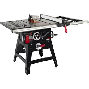 """10"""" 1-3/4 HP 120V Contractor Table Saw With 30"""" Aluminum Fence System"""