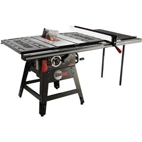 """10"""" 1-3/4 HP 120V Contractor Table Saw with Professional 36"""" T-Glide Fence Assembly Including Table"""