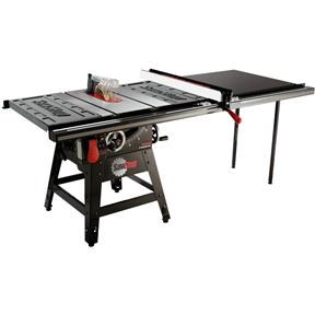 """10"""" 1-3/4 HP 120V Contractor Table Saw with Professional 52"""" T-Glide Fence Assembly Including Table"""