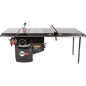 """10"""" 3 HP 230V Industrial Table Saw With 52"""" T-Glide"""