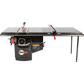 "10"" 5 HP 230V Industrial Table Saw with 52"" T-Glide"