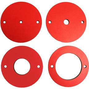 4 pc Phenolic Insert Ring Set for Router Lift