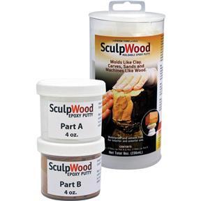 Sculpwood Moldable Epoxy Putty Kit, 8 oz.