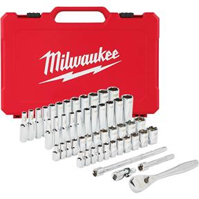 "1/4"" Drive 50pc Ratchet & Socket Set - SAE & Metric"