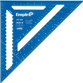 """12"""" TRUE BLUE Laser Etched Rafter Square"""