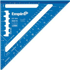 """7"""" TRUE BLUE Laser Etched Rafter Square"""