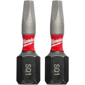 "SHOCKWAVE 1"" Impact Power Bit - Square Recess #1 - 2Pk"