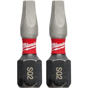 "SHOCKWAVE 1"" Impact Power Bit - Square Recess #2 - 2Pk"