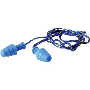 Blue Corded Earplug with Blue/Yellow Cord