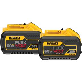 20V/60V Max Flexvolt 9.0Ah Lithium-Ion Battery - 2Pk