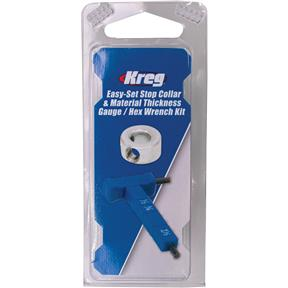 Easy-Set Stop Collar & Material Gauge/Hex Wrench Kit