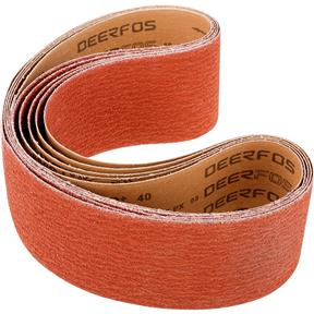"""4"""" x 48"""" Ceramic Sanding Belt 40 grit, 5 Pk."""