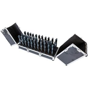 33 Pc. HSS Silver & Deming Drill Bit Set W/ Aluminum Case
