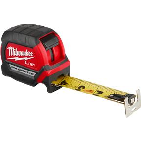 5M/16Ft Compact Wide Blade Magnetic Tape Measure