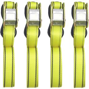 4 Piece 6' HD Buckle Tie Down Set