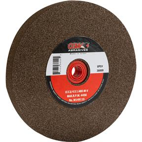 "A/O 6"" x 3/4"" x 1"" Grinding Wheel, Type 1, 60 Grit"