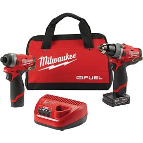 "M12 Fuel 2-Tool Combo Kit: 1/2"" Hammer Drill and 1/4"" Hex Impact Driver"