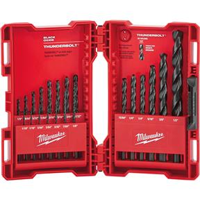 Thunderbolt 21 Pc. Black Oxide Drill Bit Set