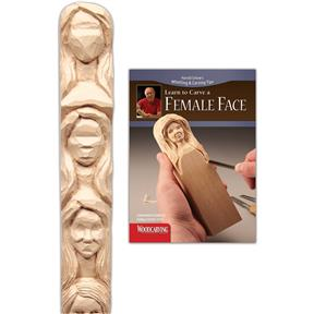 Learn to Carve a Female Face (Study Stick & Booklet)