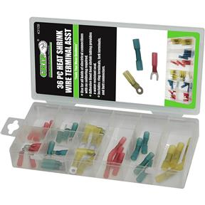 Heat Shrink Wire Terminal Assortment, 36 Pc.