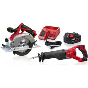 M18 Reciprocating Saw and Circular Saw Kit - Reconditioned