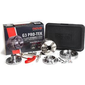 "Pro-Tek Nova Direct Thread 1"" x 8 TPI G3 Chuck Bundle"