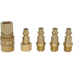 5 Pc Brass Quick Coupler Set