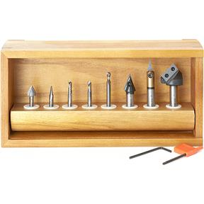 """8 Pc. 1/4"""" & 1/2"""" Signmaking Starter CNC Router Bit Collection"""