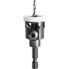 #4 Carbide Countersink w/ Low Friction Depth Stop Quick Release Hex Shank
