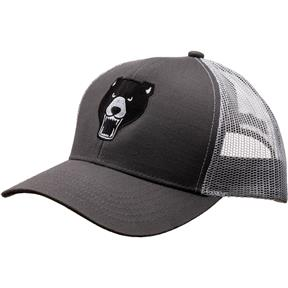 Grizzly Hat- Charcoal/White