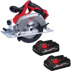 """M18 6-1/2"""" Reconditioned Circular Saw with 2 3.0Ah Batteries"""