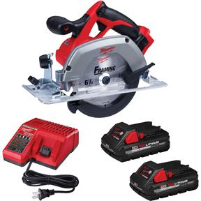 """M18 6-1/2"""" Reconditioned Circular Saw 2 Battery Kit"""