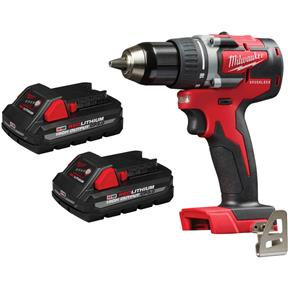 """M18 1/2"""" Reconditioned Compact Brushless Drill Driver with 2 3.0Ah Batteries"""